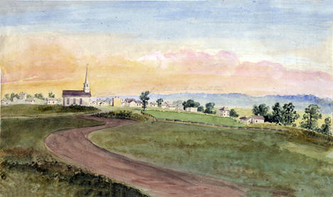 Water color of Shakopee Minnesota, 1858