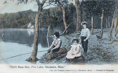 Black Bass Bay on Fox Lake, Sherburn Minnesota, 1911