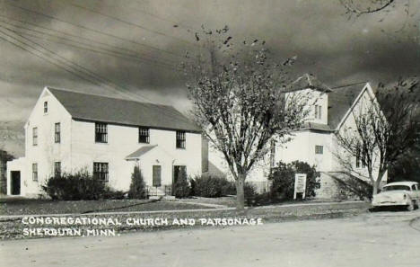 Congregational Church and Parsonage, Sherburn Minnesota, 1950's