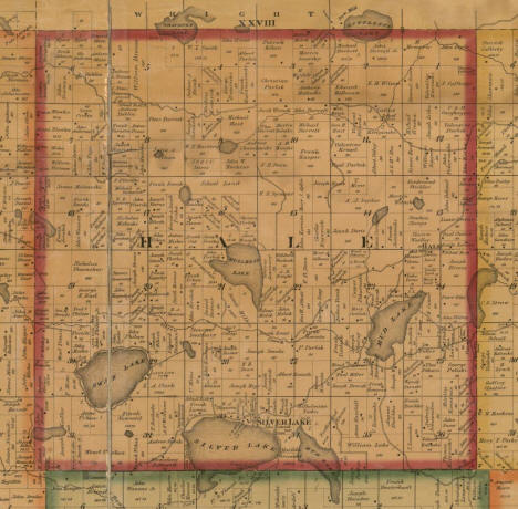 Plat map of Hale Township, McLeod County, Minnesota, 1880