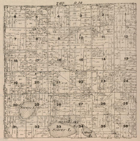 Plat map of Hale Township, McLeod County, Minnesota, 1916
