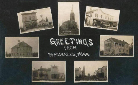 Multiple scenes, St. Michael Minnesota, 1915