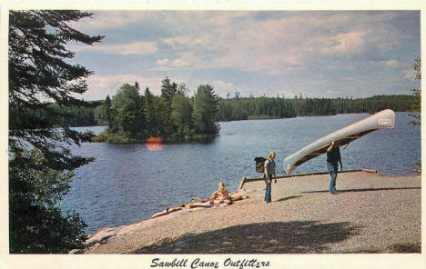 Sawbill Canoe Outfitters, Tofte Minnesota, 1950's