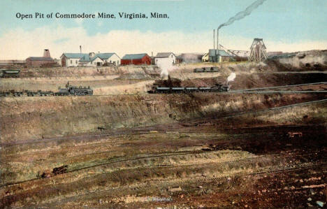 Open Pit of the Commodore Mine, Virginia Minnesota, 1910