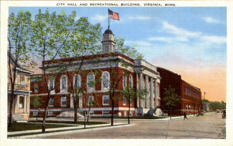 City Hall and Recreational Building, Virginia Minnesota, 1930's