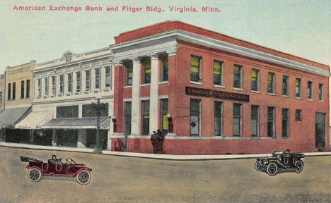 American Exchange Bank and Fitger Building, Virginia Minnesota, 1908