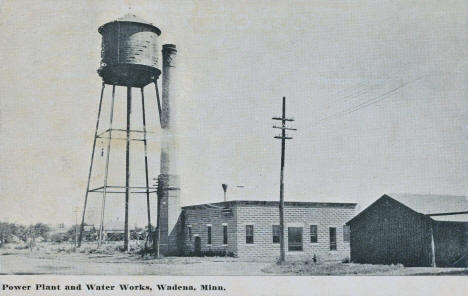 Power Plant and Water Tower, Wadena Minnesota, 1914