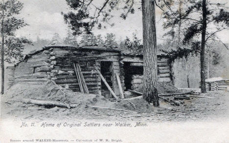 Home of Original Settlers near Walker Minnesota, 1905