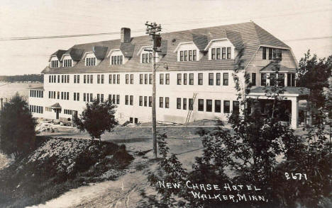New Chase Hotel, Walker Minnesota, 1923
