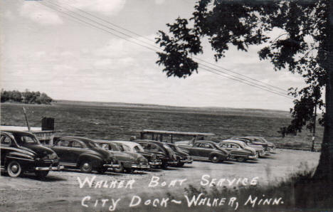 Walker Boat Service, City Dock, Walker Minnesota, 1952