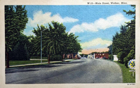 Main Street, Walker Minnesota, 1952