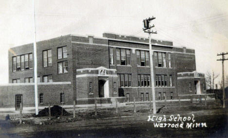 High School, Warroad Minnesota, 1920's