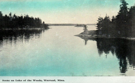 Scene on Lake of the Woods, Warroad Minnesota, 1916