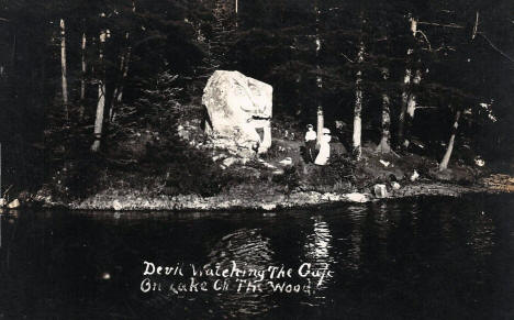 Devil Rock, Lake of the Woods, Warroad Minnesota, 1910
