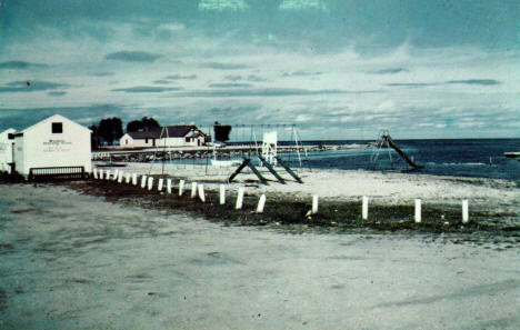 Public Beach on Lake of the Woods, Warroad Minnesota, 1960's