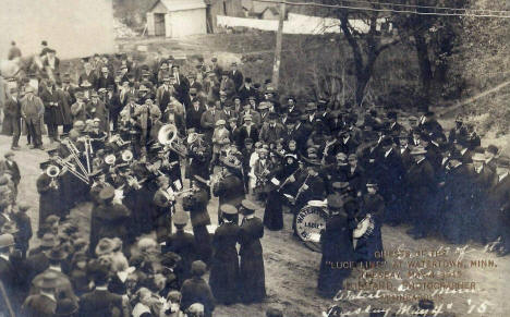 Watertown Ladies Band at the opening of the Luce Line Railroad, Watertown Minnesota, 1915