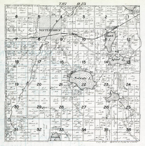 Plat map, Watertown Township, Carver County Minnesota, 1916
