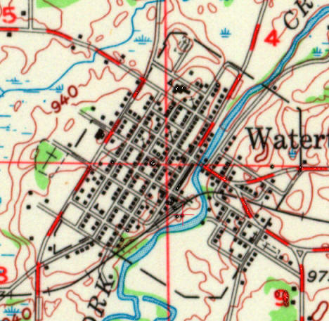 Topographic map of the Watertown Minnesota area, 1957