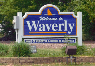 Welcome sign, Waverly Minnesota