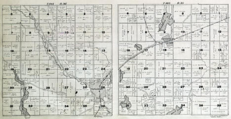 Plat map of Great Bend and Lakeside Townships in Cottonwood County Minnesota, 1916
