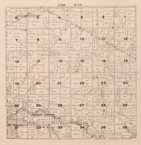 Plat Map, Zumbrota Township in Goodhue County, Minnesota, 1916